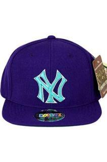 New York Yankees Purple Flat Billed Snapback Cap by