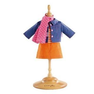 ACCESSOIRE MODE POUPEE Ensemble poupées 36 cm   Jupe et veste en jean
