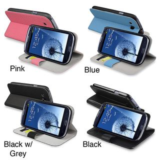 Leather Case with Credit Card Wallet for Samsung Galaxy S III i9300