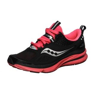 Saucony Womens Grid Profile Black/Pink Running Shoes
