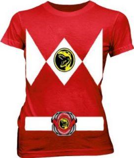 Power Rangers Red Ranger Costume Red Juniors T Shirt Tee