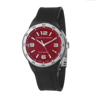 Porsche Design Mens P6310 Stainless Steel Red Automatic Watch