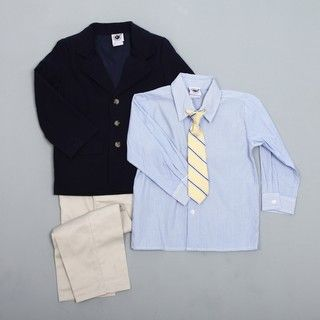 Good Lad Boys Linen Suit with Woven Shirt and Tie