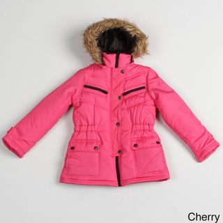 KC Collections Girls Faux fur Hooded Jacket