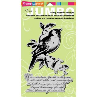 Stampendous Songbird Jumbo Cling Rubber Stamp Today $13.89