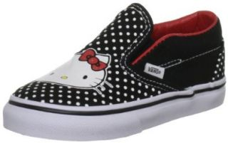 com Vans Kids Classic Slip On Hello Kitty Black Red Vn 0qfb66z Shoes