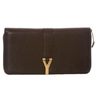Yves Saint Laurent ChYc Large Black Leather Wallet
