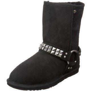 Koolaburra Womens Mistee Studded Harness Boot, Black, 10 M US Shoes