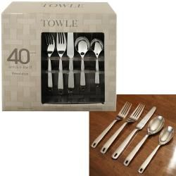 Towle Revolution 18/10 Stainless Steel 40 piece Flatware Set