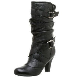Steve Madden Womens Latchh Boot,Black Leather,6 M Shoes