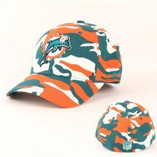 Miami Dolphins Flex Fit Camouflage Baseball Hat Miami Blue