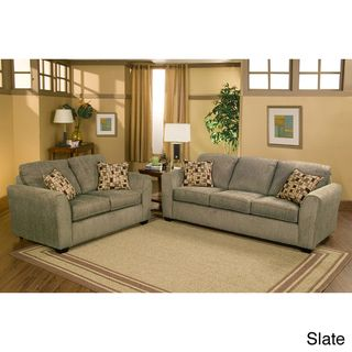 Payson Eco Friendly Chenille 2 piece Sofa and Loveseat Set
