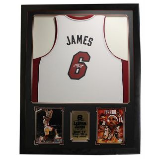 James Autographed Jersey in Deluxe Frame (36 x 44)