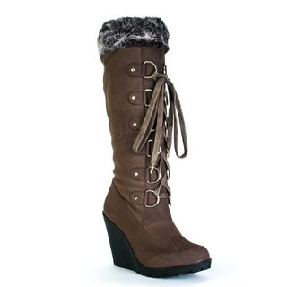 Toi et Moi Women Fedel 05 Brown Micro suede Lace up Boots