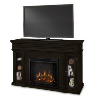 Real Flame Lannon Dark Walnut Electric Fireplace