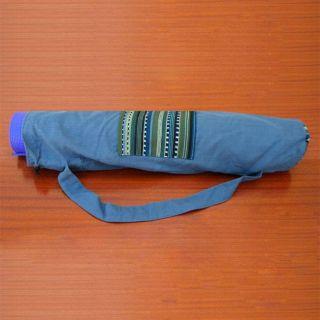 Cotton Olive Solola Yoga Mat Bag (Guatemala)