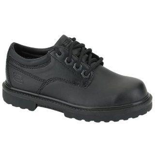 Skechers KELLET Boys Black Leather School Shoes Size 3 New Shoes