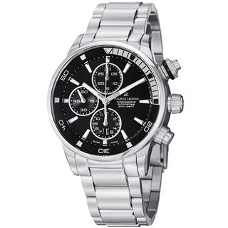 Maurice Lacroix Mens Pontos Black Dial Stainless Steel Watch