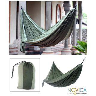 Nylon Parachute Green Outdoors Hammock (Indonesia)