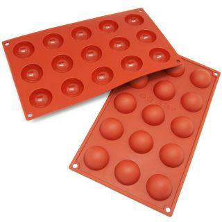 Freshware 15 cavity Mini Half sphere Cake Silicone Mold/ Baking Pans