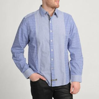 English Laundry Blue Plaid Button front Shirt