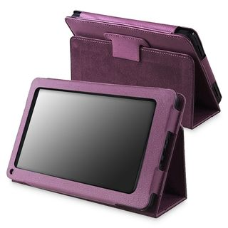 Purple Leather Case with Stand for  Kindle Fire