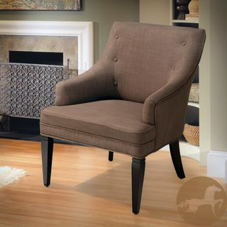 Christopher Knight Home Lindsay Brown/ Beige Accent Chair