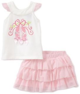 Baby girls Infant Vanilla Shoes Skooter Set, Pink, 24 Months Clothing