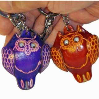 Collectible Real Leather Bag charm or Key chain, a Pair
