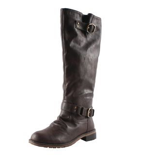 Elegant by Beston Womens Dillian 7 Brown Riding Boots