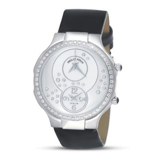 Philip Stein Womens Teslar Mother of Pearl Dial Diamond accent Watch