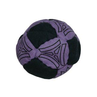 Tri Ball Hacky Sack (Footbag) Sand Filled   Purple/Black