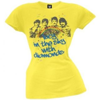 The Beatles   Lucy In The Sky Juniors Yellow T Shirt