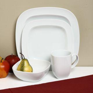 Denby White Square 16 piece Dinnerware Starter Set