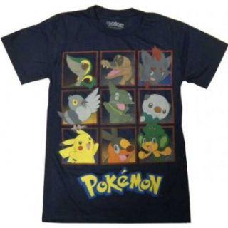 Pokemon Characters Navy Blue Men T shirt Clothing