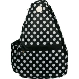 Jet Pac Small Black/ White Polka Dots Tennis Sling