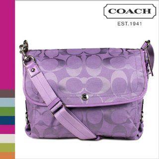 Kyra Nylon Flap Laptop Messenger Bag 16553 Lilac Purple Shoes