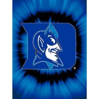 Duke Blue Devils NCAA Royal Plush Raschel Blanket(Tye Dye