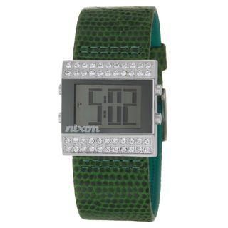 Nixon Womens Stainless Steel Crystal Compact Watch