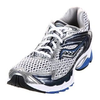 Saucony Mens Progrid Ride 4 White/Blue Running Shoes