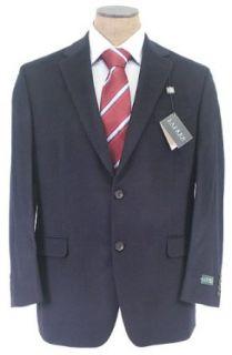 Ralph Lauren Mens 2 Button Navy Blue Silk Wool Cashmere