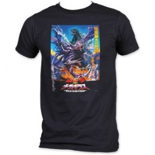 Godzilla Vs Megaguirus Poster Black T Shirt Clothing