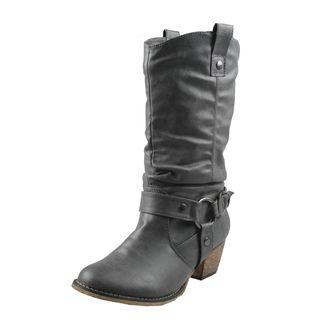 Refresh Womens Wild Grey Cowboy Boots