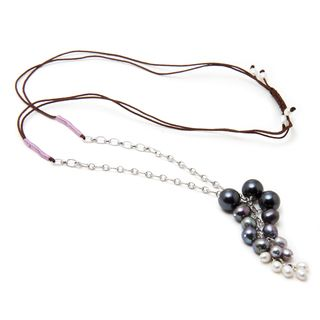 Alex Rae by Peyote Bird Designs Adjustable Pearl Bauble Necklace