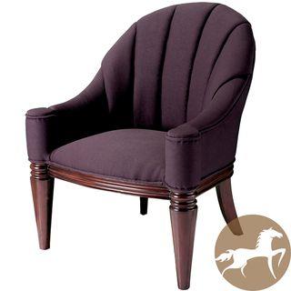Christopher Knight Home Contemporary Antonio Purple Fabric Club Chair