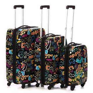 Nicole Miller Allegra 3 piece Hardside Spinner Luggage Set