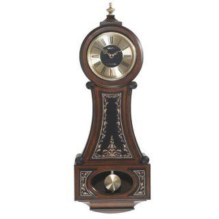 Seth Thomas Strathmoor Maple Wood Chime Pendulum Wall Clock
