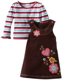 Youngland Girls 2 6X Two Piece Jumper Set, Brown, 2T