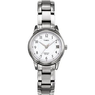 Timex Womens Elevated Classics Dress Silvertone Steel Bracelet Watch