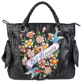 Ed Hardy Womens Eva Flirt Alert Double Handle Tote Bag